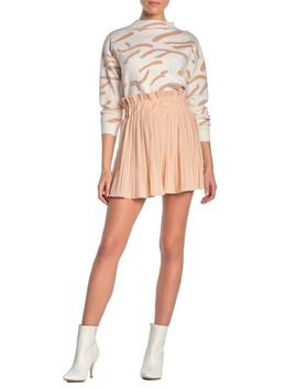 Pleated Crepe Mini Skirt by On Twelfth