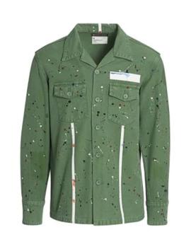 Carson Paint Splatter Army Shirt by Purple Brand