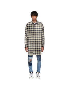 Beige & Black Check Over Shirt by Faith Connexion