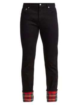 Check Turn Up Trousers by Alexander Mc Queen