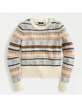 Crewneck Sweater In Fair Isle Stripe by J.Crew