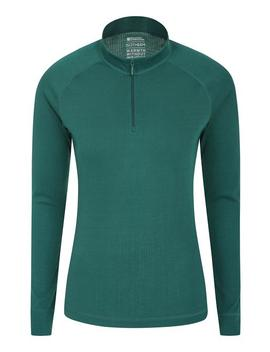 Talus Womens Long Sleeved Zip Neck Top by Mountain Warehouse