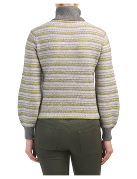 Wool And Cashmere Fair Isle Turtleneck Sweater by Tj Maxx