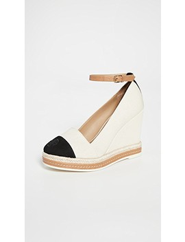 Colorblock Wedge Espadrilles 105mm by Tory Burch