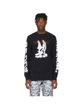 Black Cartoon Long Sleeve T Shirt by Off White