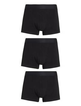 Black Pima Cotton Hipser Briefs by Primark
