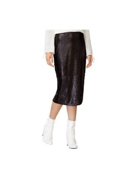 Mink Pink Womens Sequin Pencil Skirt Black S by Walmart