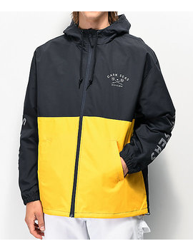 Dark Seas Foul Weather Navy & Yellow Jacket by Dark Seas