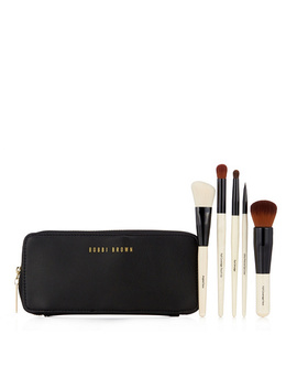 Bobbi Brown Classic 5 Piece Brush Collection With Case by Qvc