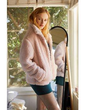 Pac Sun Pink Sherpa Jacket by Pacsun