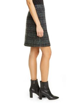 A Line Tweed Miniskirt by Akris Punto