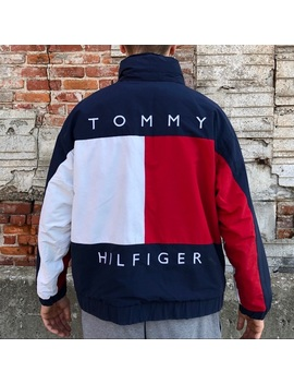 Vintage Tommy Hilfiger Big Flag Reversible Jacket Preowned/Used by Tommy Hilfiger