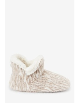 Zebra Print Knitted Slipper Boots by Next