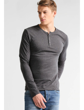 Langarmshirt   Dark Grey Melange by Pier One