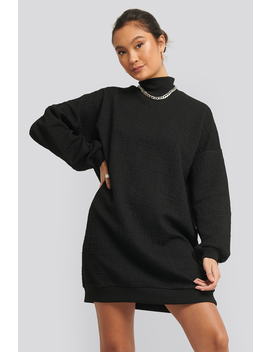 Structured High Neck Sweat Dress Black by Na Kd