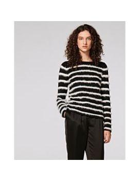 Eyelash Yarn Striped Sweater by Vince Camuto