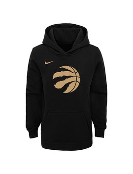 Youth Toronto Raptors Nike Black 2019/20 City Edition Club Pullover Hoodie by Nba Store