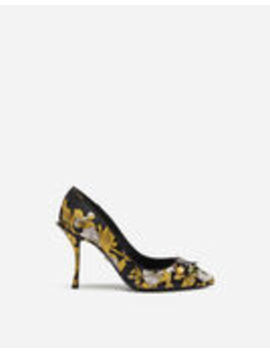 Jacquard Pumps With Embroidery by Dolce&Gabbana