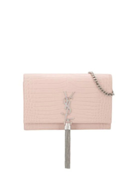 Small Kate Crocodile Effect Tassel Crossbody Bag by Saint Laurent