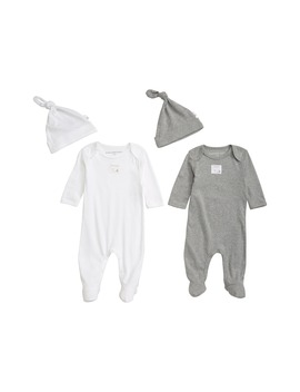 2 Pack Footie & Hat Set by Burt's Bees Baby