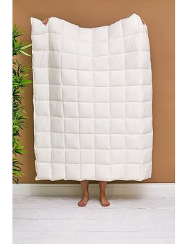 Oat Quilted Jersey Throw Blanket by Urban Outfitters