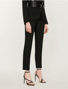 Mid Rise Crepe Tapered Trousers by Alexander Mcqueen