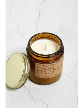 P.F. Candle Co. Teakwood And Tobacco 3.5oz Soy Candle by P.F. Candle Co.