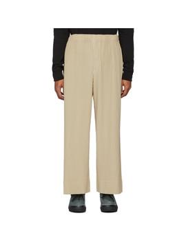 Pantalon Plissé Beige by Homme PlissÉ Issey Miyake