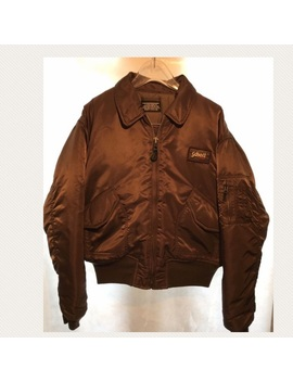 Schott Nyc Mens Brown Flight Jacket Size Large by Schott Nyc