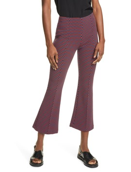 Geo Pattern Crop Flare Pants by Smythe
