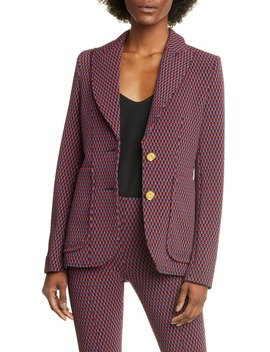 Portrait Neck Jacquard Blazer by Smythe