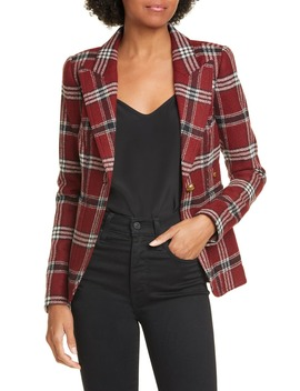 Duchess Plaid Wool Blazer by Smythe