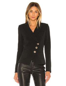 Wrap Blazer In Black by Smythe