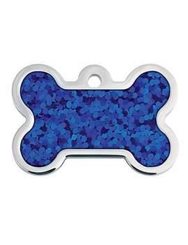 Quick Tag Large Blue Hologram Bone Personalized Engraved Pet Id Tag Quick Tag Large Blue Hologram Bone Personalized Engraved Pet Id Tag by Quick Tag