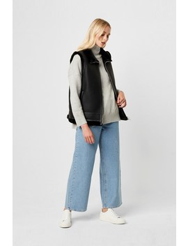 Dafine Faux Shearling Gilet by French Connection