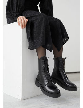 Chunky Platform Leather Boots by & Other Stories