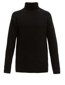Wide Gauge Knitted Wool Roll Neck Sweater by Officine Générale