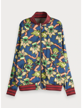 Printed Reversible Bomber Jacket by Scotch&Soda