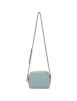 Blue Valentino Garavani Rockstud Crossbody Bag by Valentino