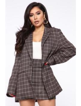 Sassy And Classy Blazer Jacket   Brown by Fashion Nova