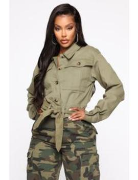 Worth Your Time Denim Jacket   Olive by Fashion Nova