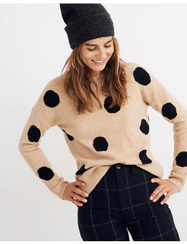 Dot Graystone Pullover Sweater In Coziest Yarn by Madewell