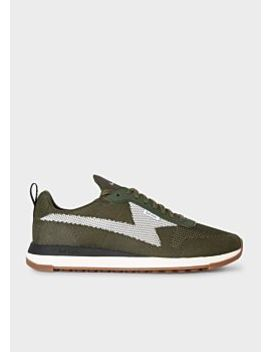 Men's Khaki 'rocket' Recycled Knit Trainers by Paul Smith