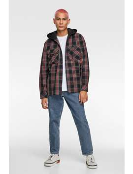 Check Shirt With Hood by Zara