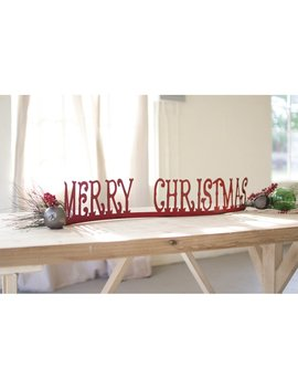 Merry Christmas Table Top Mantle by The Holiday Aisle