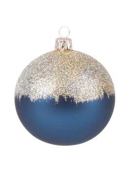 Blue Glass Christmas Bauble With Glitter by Maisons Du Monde