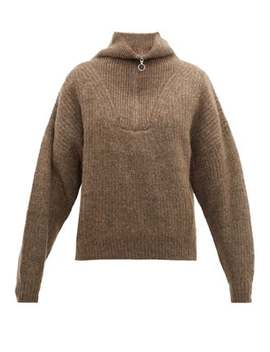 Mclean Half Zip Ribbed Sweater by Isabel Marant Étoile