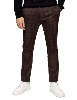 Heritage Skinny Fit Check Pants by Topman