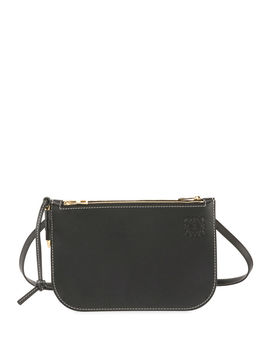 Gate Double Zip Pouch Clutch Bag by Loewe