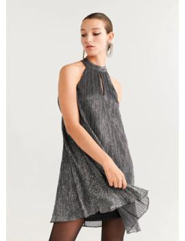 Φόρεμα μεταλλική κλωστή by Mango